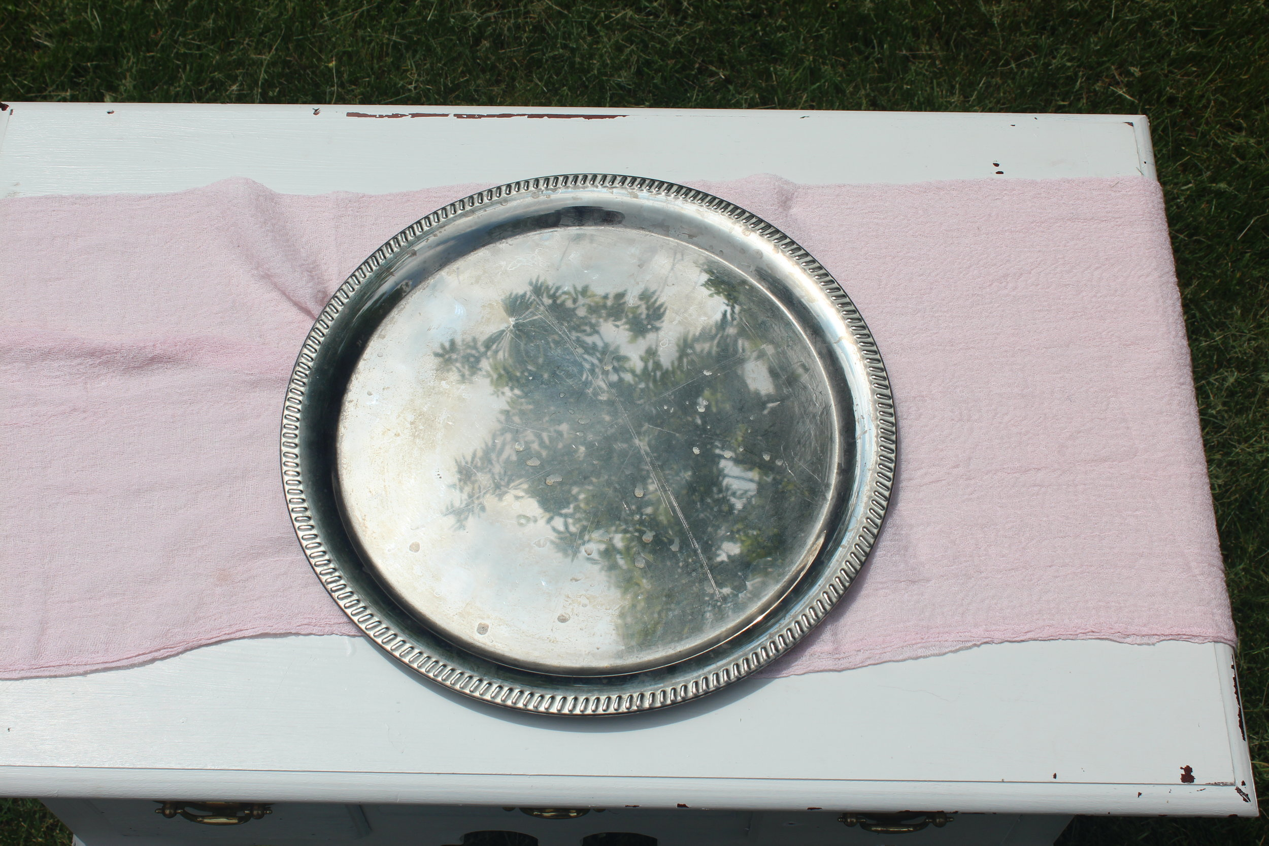 Antiqued Silver Tray 5