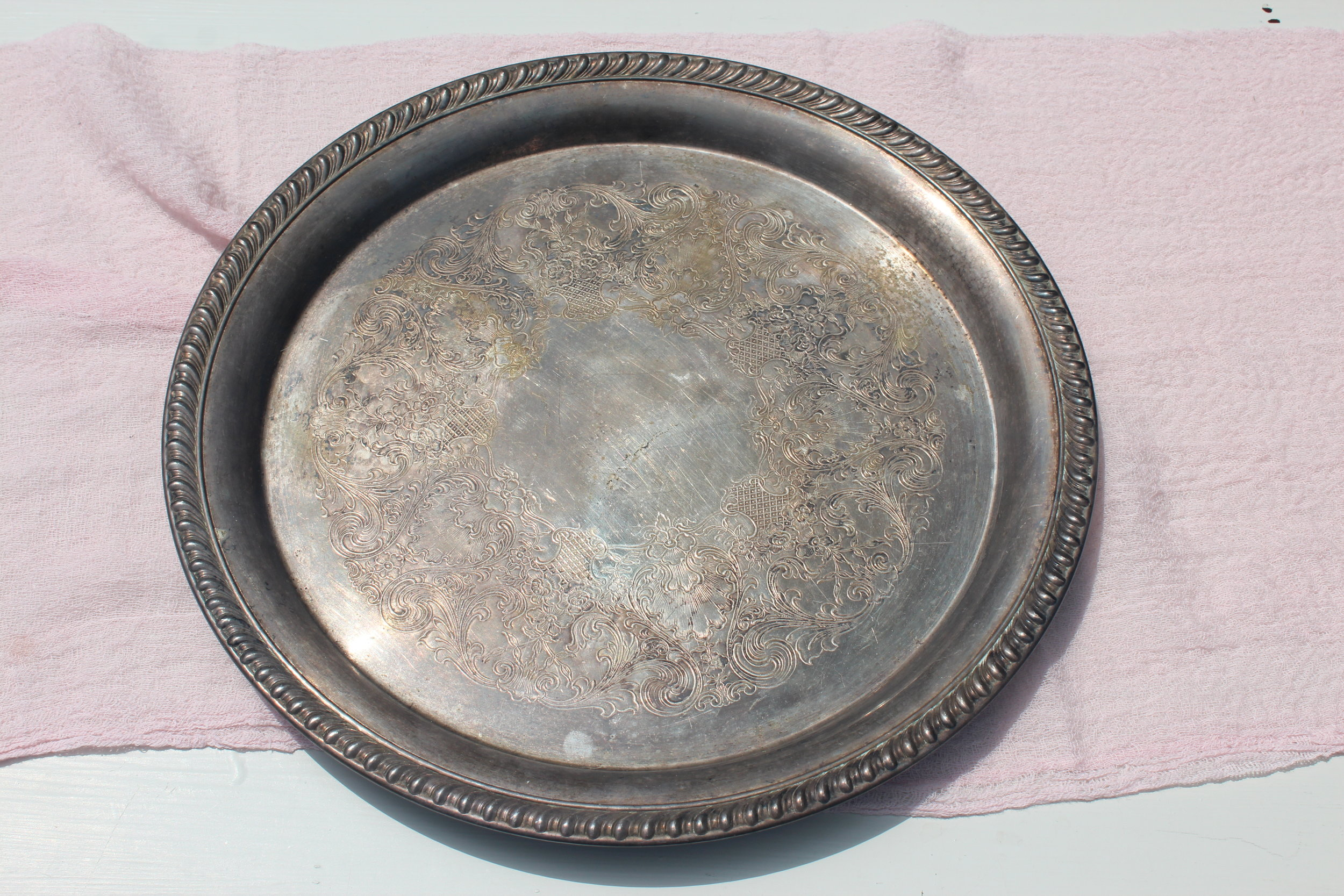 Antiqued Bronze Tray