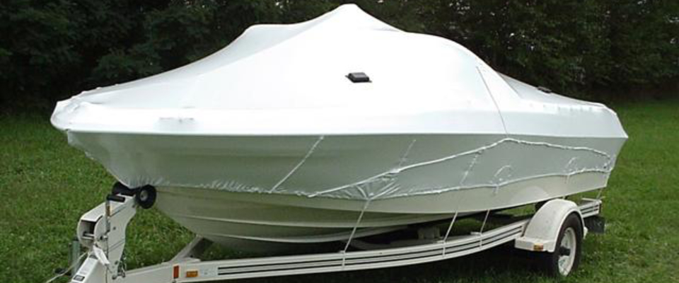Protect trailered boats when not in use