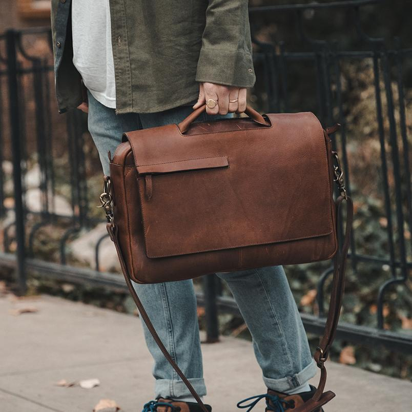 Surveyor Leather Messenger Bag