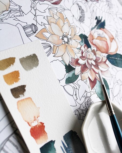 Watercolor Painting Class with Sarah Simon, The Mint Gardener - Friday, September 13, 5-8PM, $75We're so thrilled to be hosting renowned watercolor artist Sarah Simon (The Mint Gardner) to lead you through the beauty of watercolor painting. We'll begin with a guided tour through the flower fields to gather inspiration, then Sarah will lead you through introductory strategies and techniques as you create your own watercolor masterpiece. No experience necessary, all materials included.