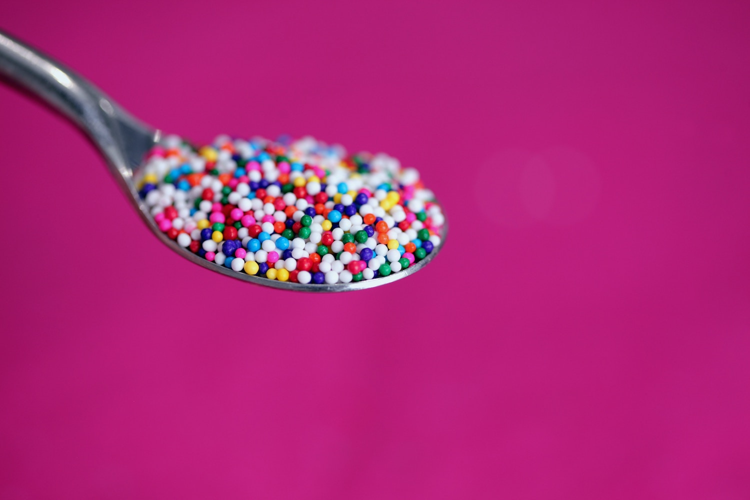 Lee found that bright colors, round shapes (and sprinkles) all have the ability to create moments of joy. Photo by  Sharon McCutcheon on  Unsplash