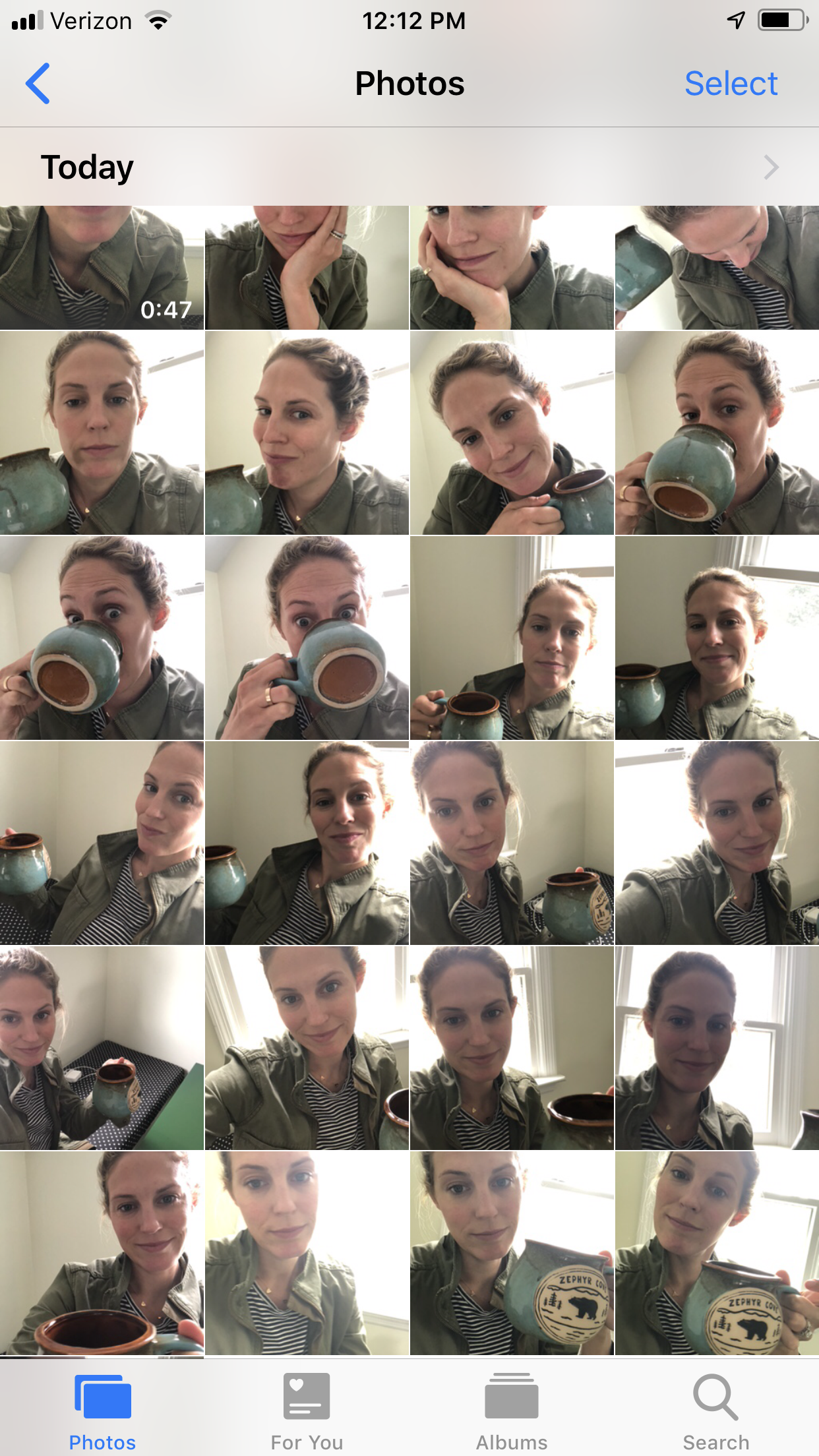 """I buffered finishing this post by taking a ton of stupid selfies trying to brainstorm the """"perfect"""" picture for this article…"""