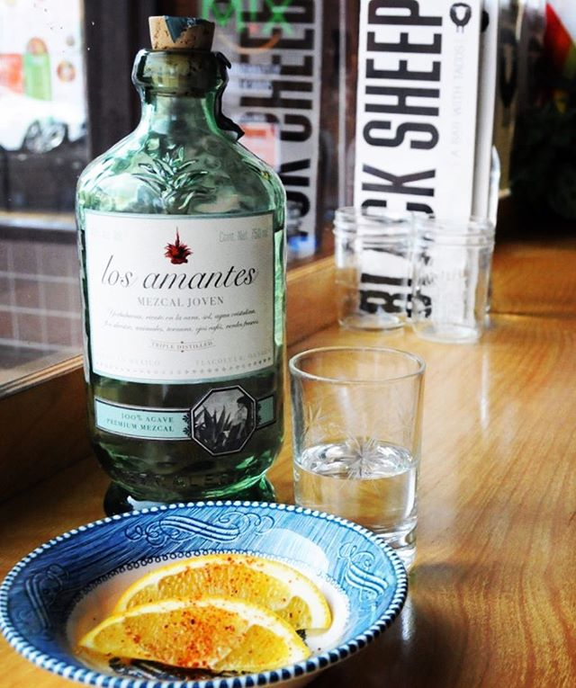 Los Amantes Joven is a rare triple-distilled 100% Espadin mezcal from Tlacolula, Oaxaca. Lightly smoky, with tropical fruit and roasted agave flavors and a soft finish, it's a great introduction to the flavors of mezcal. On Wednesdays, it's just $7 a pour on our 50% off agave special!