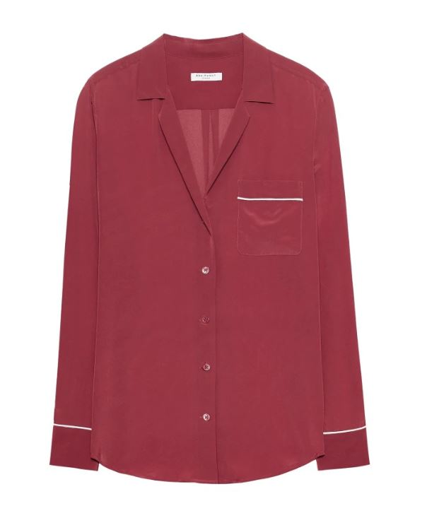 Red Silk Equipement Shirt