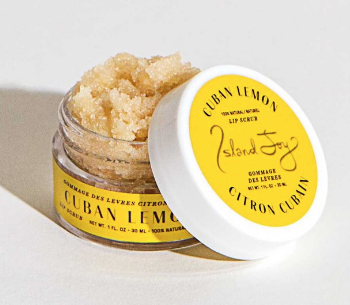 Island Joy Cuban Lemon lip scrub $20 CAD