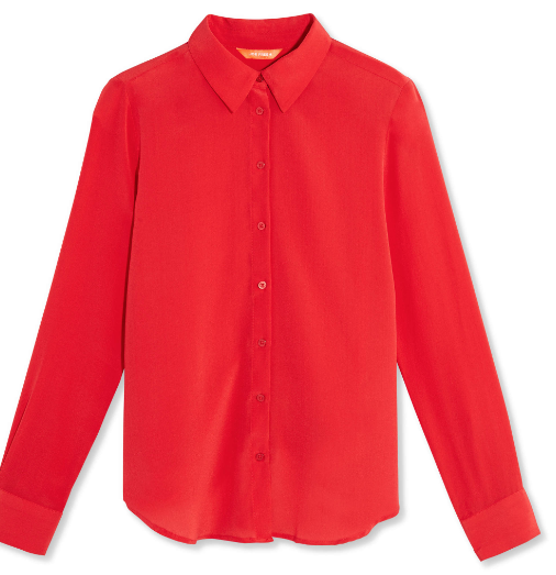 Joe Fresh Red Silk Blouse