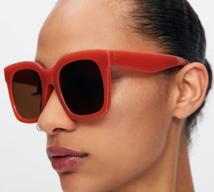 Oversized Red Sunnies