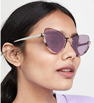 Narrow Pilot Cat Eye Sunglasses