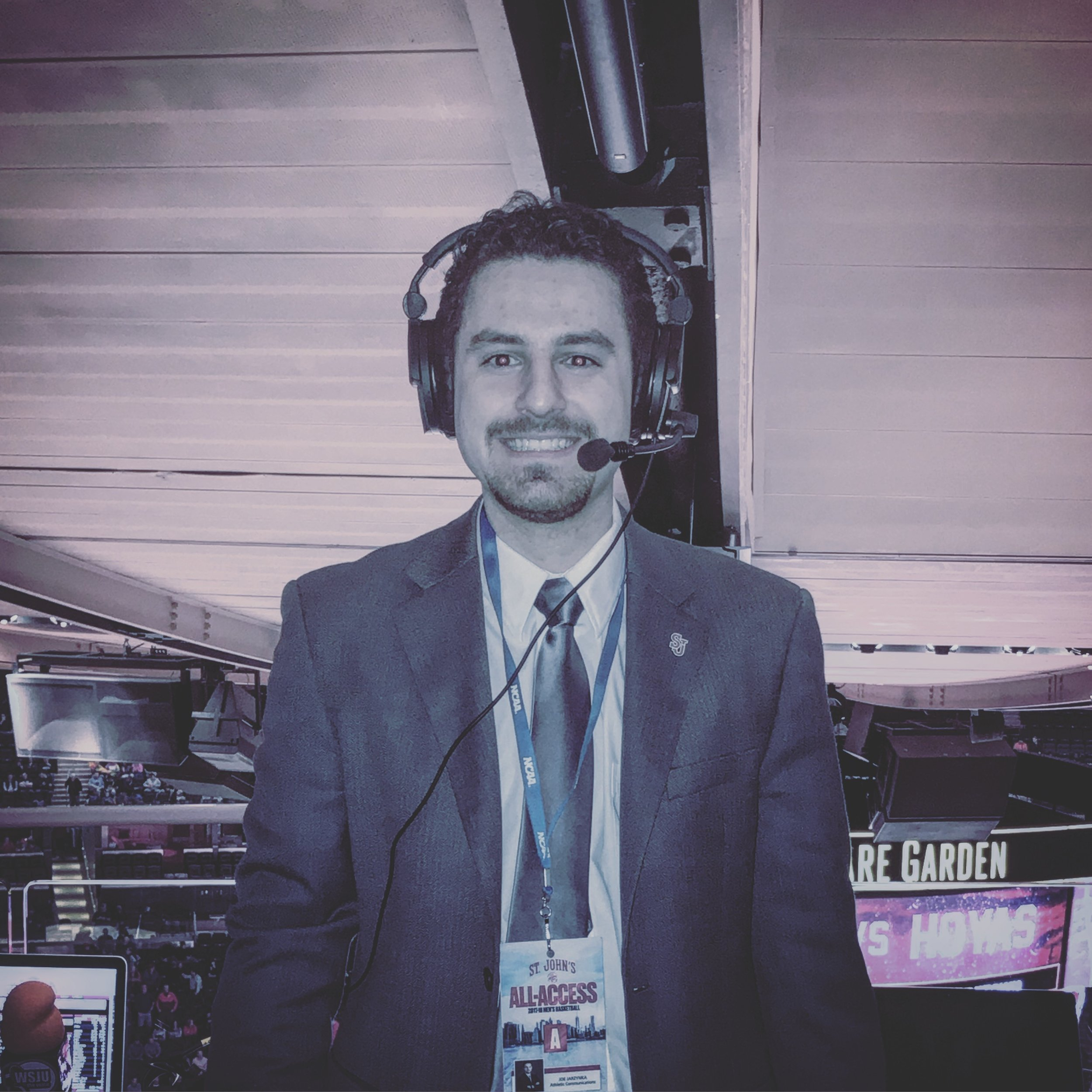 Joey Jarzynka - Aspiring Sportscaster/Freelance Journalist-Athletic Communications Assistant for St. Francis Brooklyn Terriers Women's Soccer, Women's Basketball and Men's/Women's Tennis-Athletic Media Intern at L.I.U. Post-Sports Information Director for United Soccer League Division II's F.A. Euro New York-Former St. John's University Radio Network's Sports Director-Freelance Journalist-Big East Conference (S.J.U.)