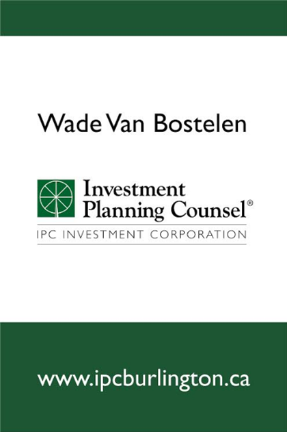 IPC Investment Planning Counsel   101-3430 South Service Road Burlington, ON L7N 3T9  Phone: 905-333-0902    wbostelen@ipcc.org