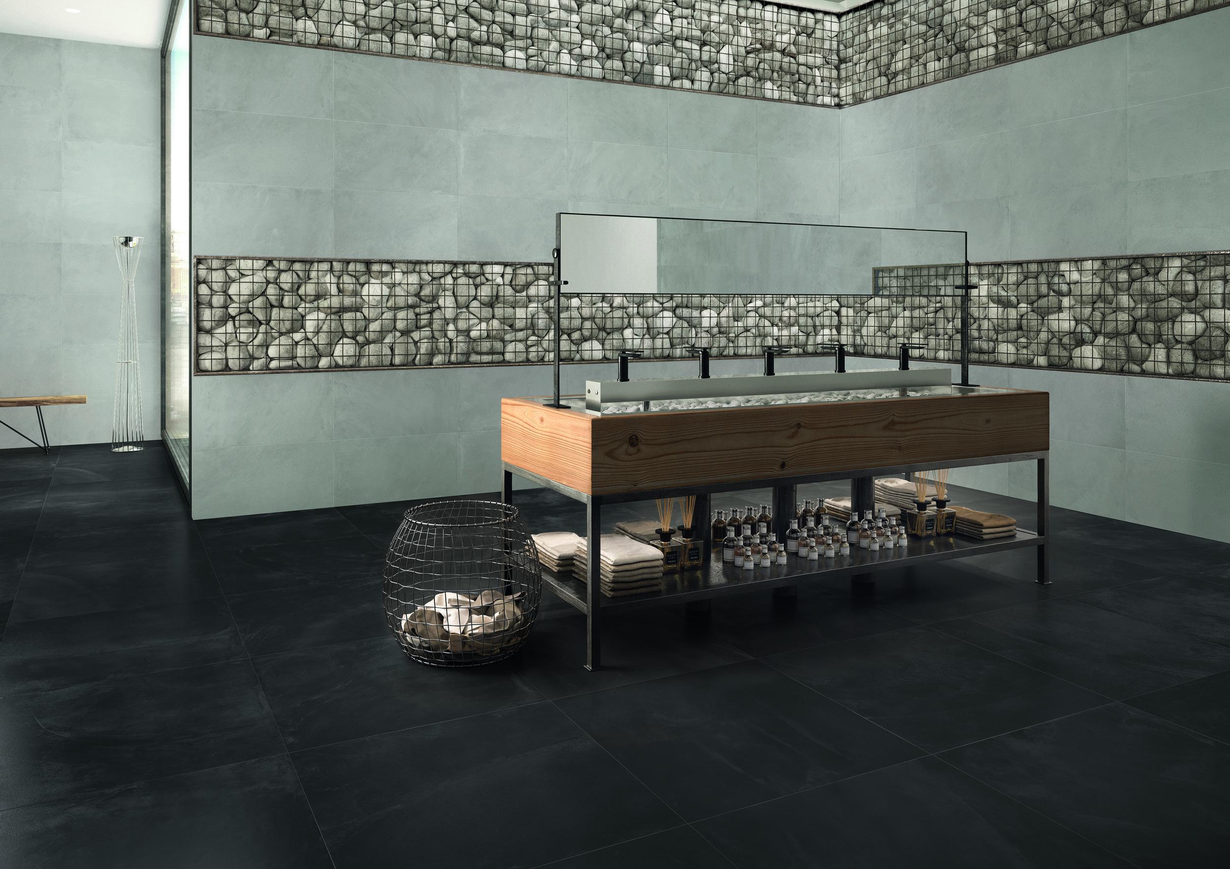 ArchitectResin BruxellesBlack 80x80 e Grey 40x80 Amb. bagno ristorante.jpg