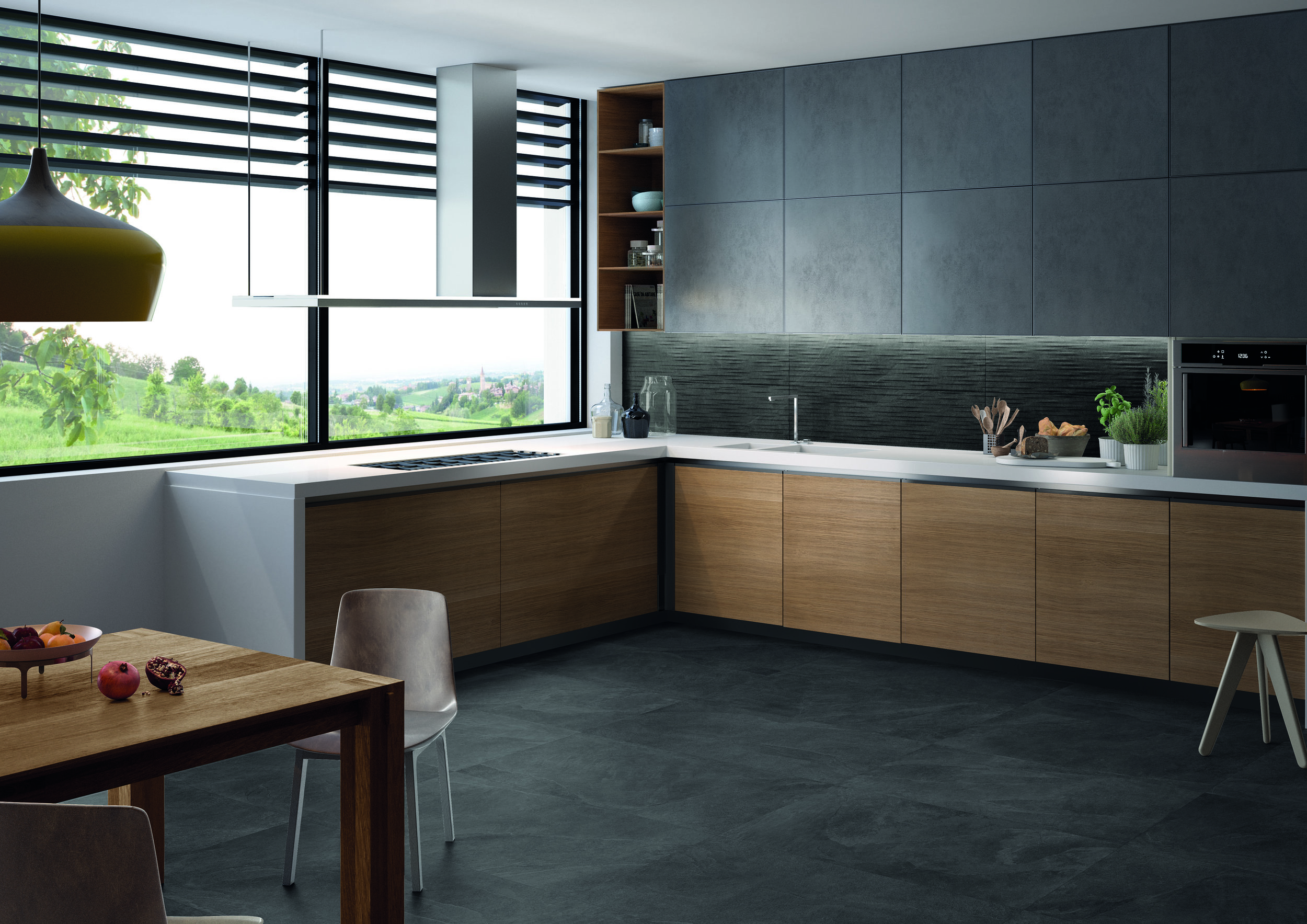Cornerstone Slate Black 60x120-Parallelo Amb Cucina.jpg
