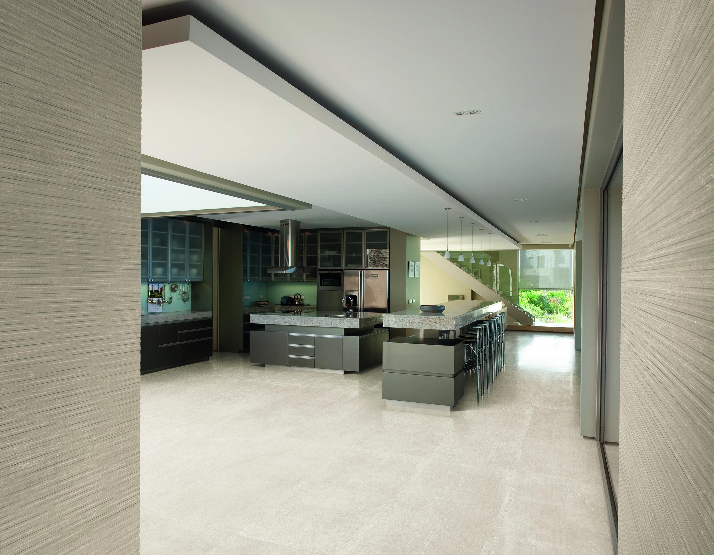 Limestone White Lappato 60x120-Parallelo Beige Amb. Cucina.jpg