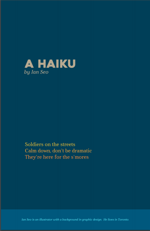 AFTERNOON Vol 1 Haiku