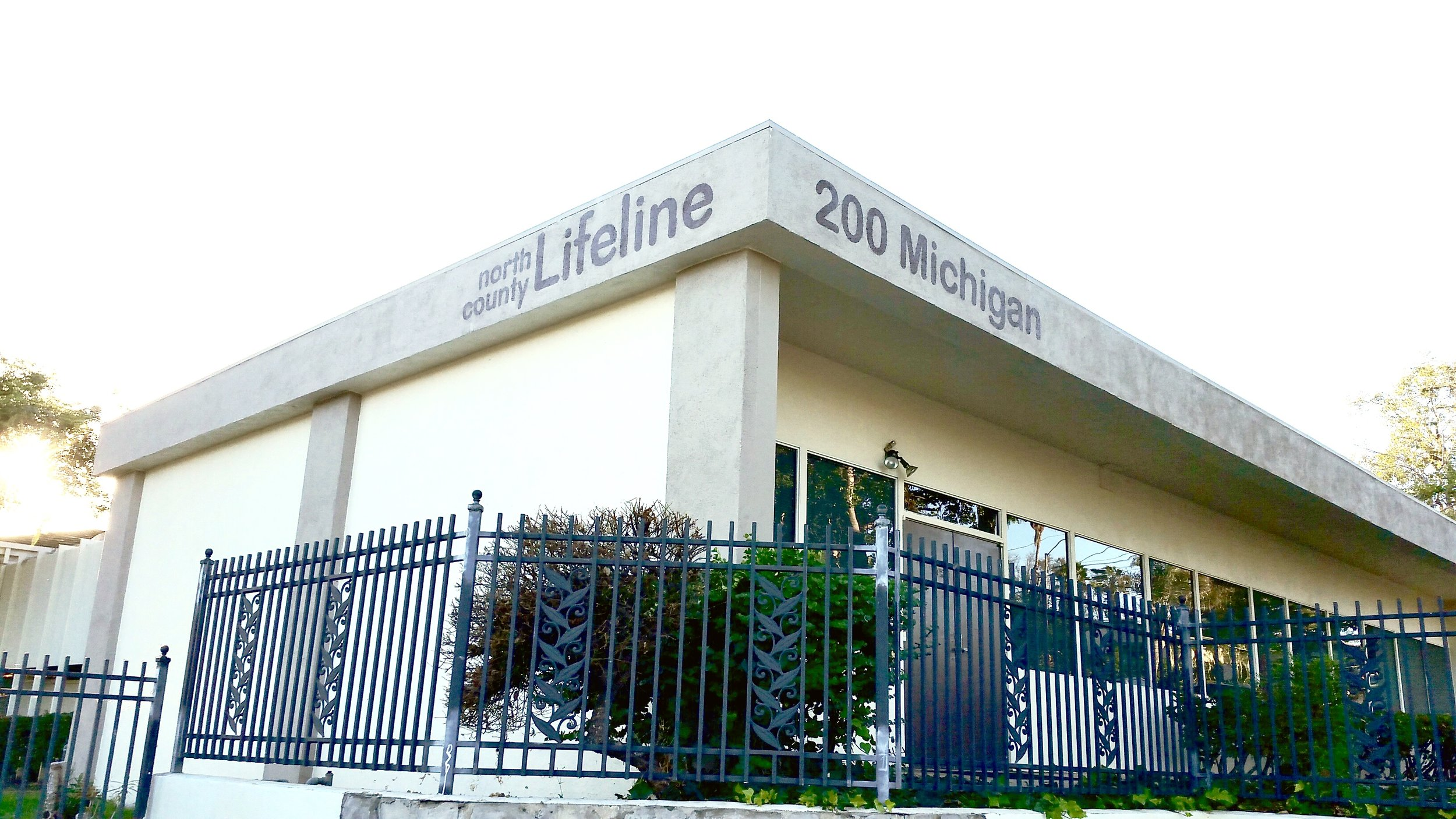 North County Lifeline painted sign mural
