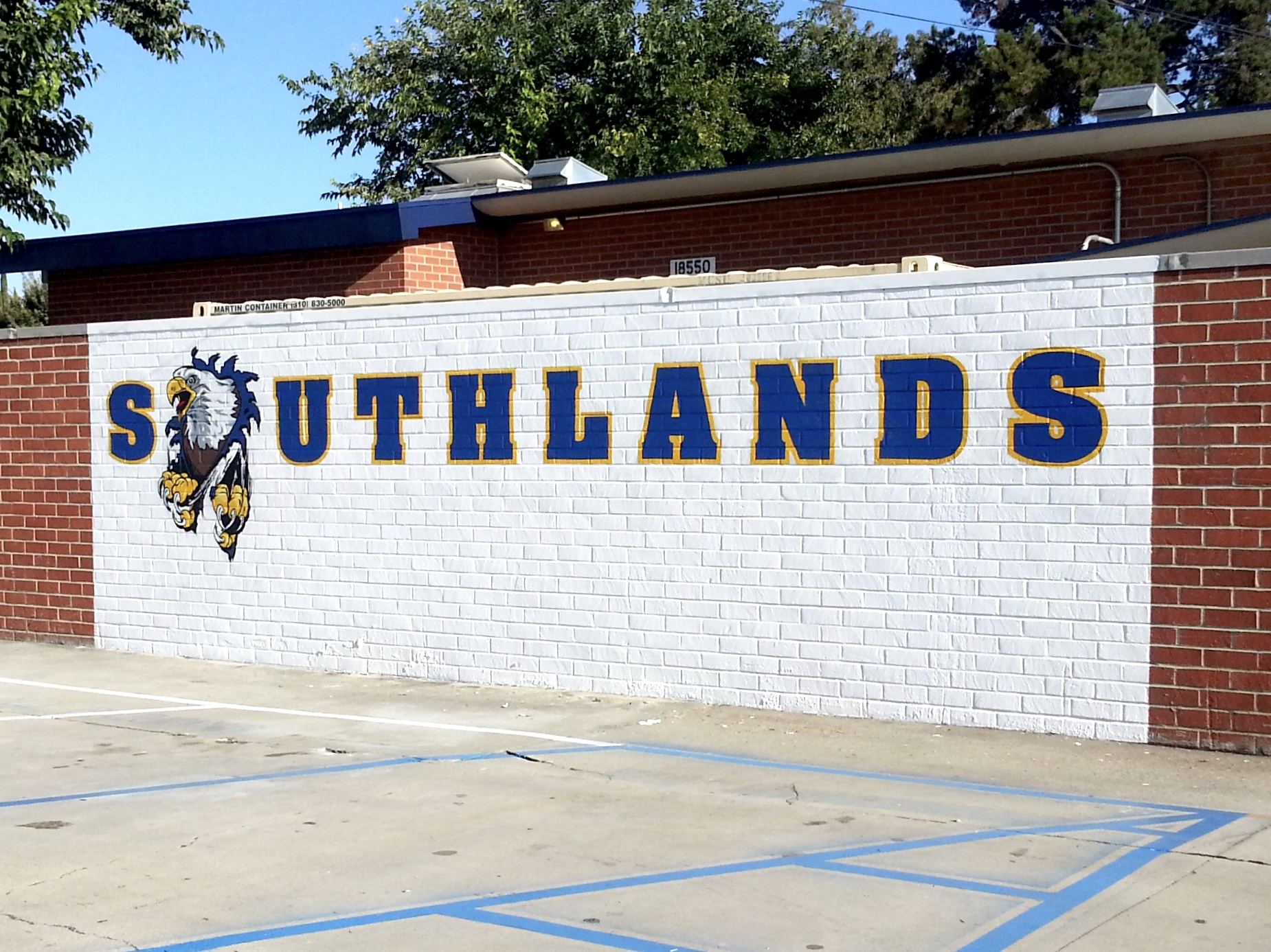 Southlands Christian School hand painted wall graphics