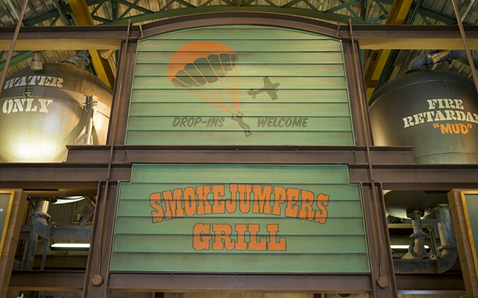 Smokejumpers Grill hand painted distressed interior graphics