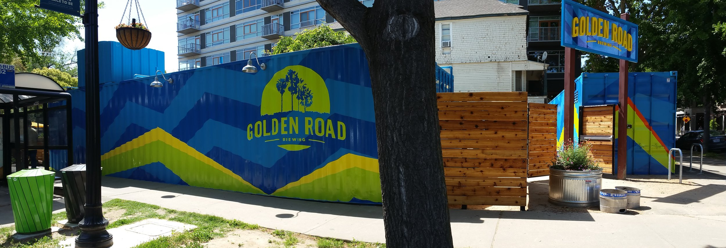 Golden Road Brewing hand painted graphics