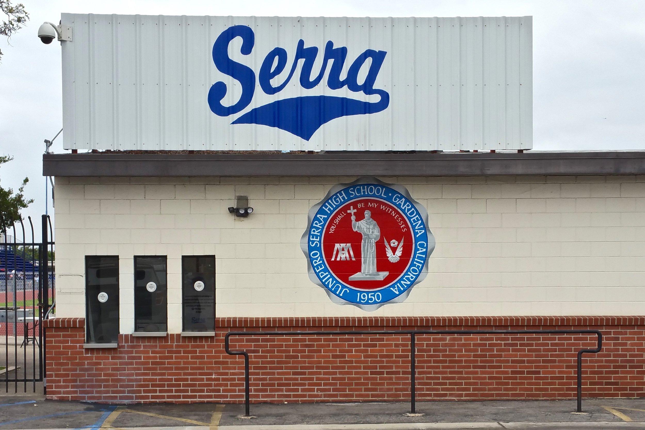 Serra High School hand painted graphics