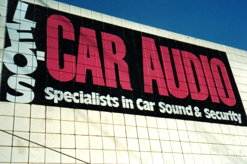 Leo's Car Audio hand painted wall sign