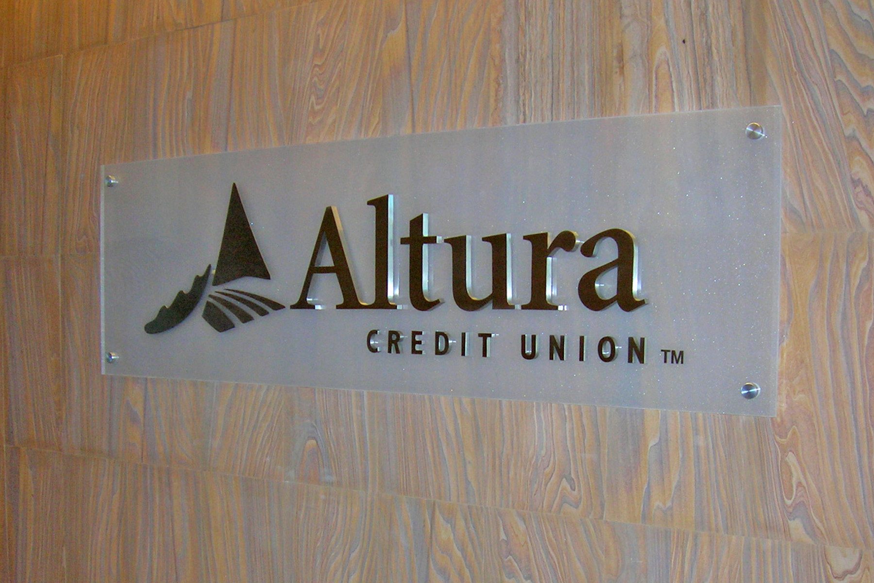 Altura Credit Union corporate reception sign