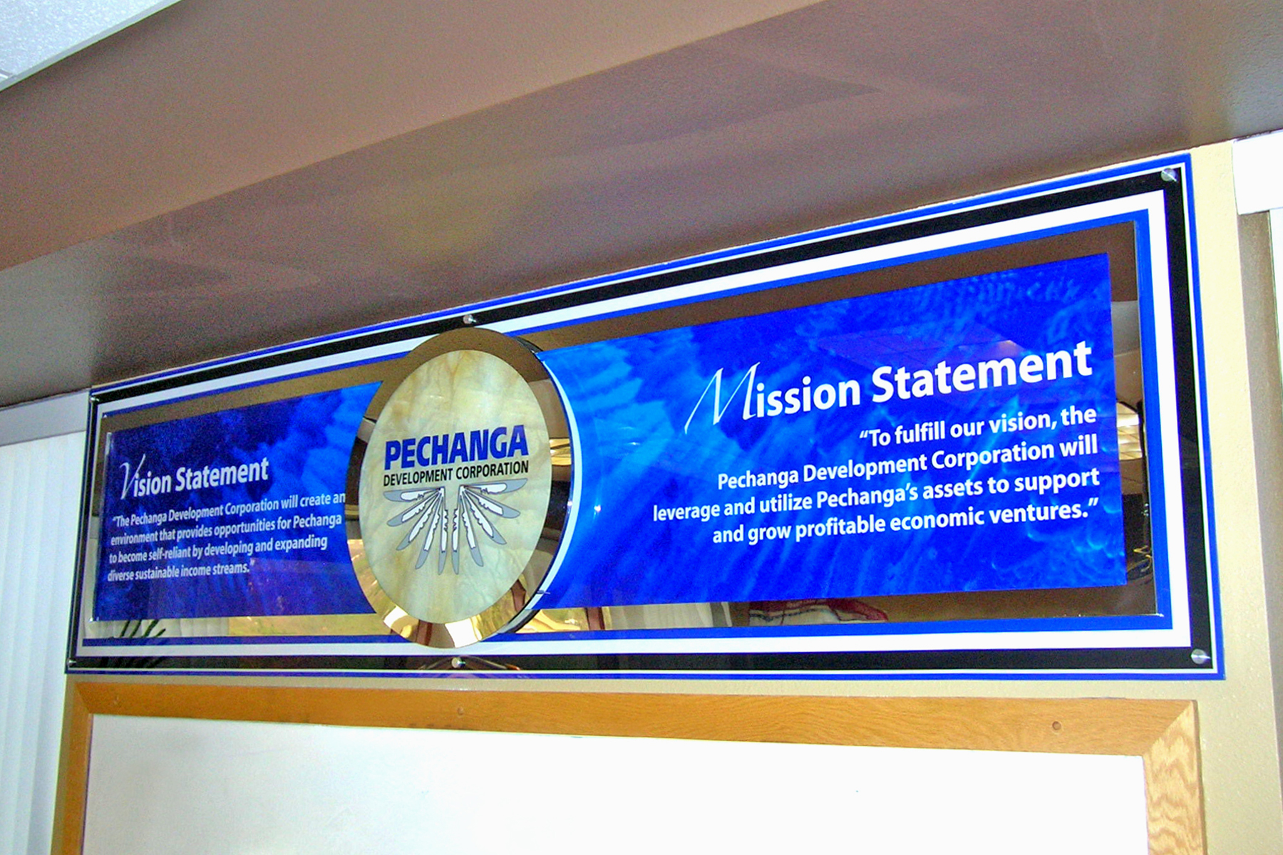 Pechanga corporate boardroom display