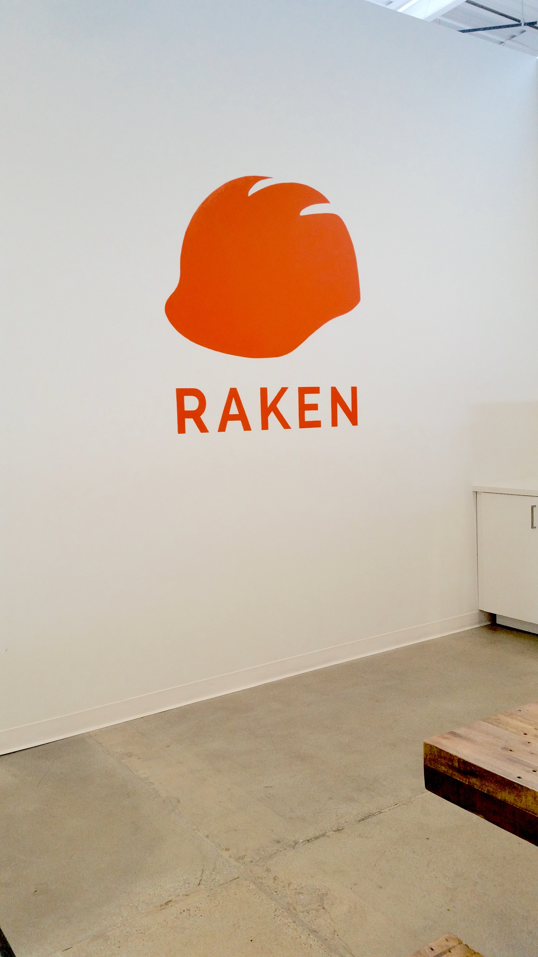 Raken painted office wall graphic