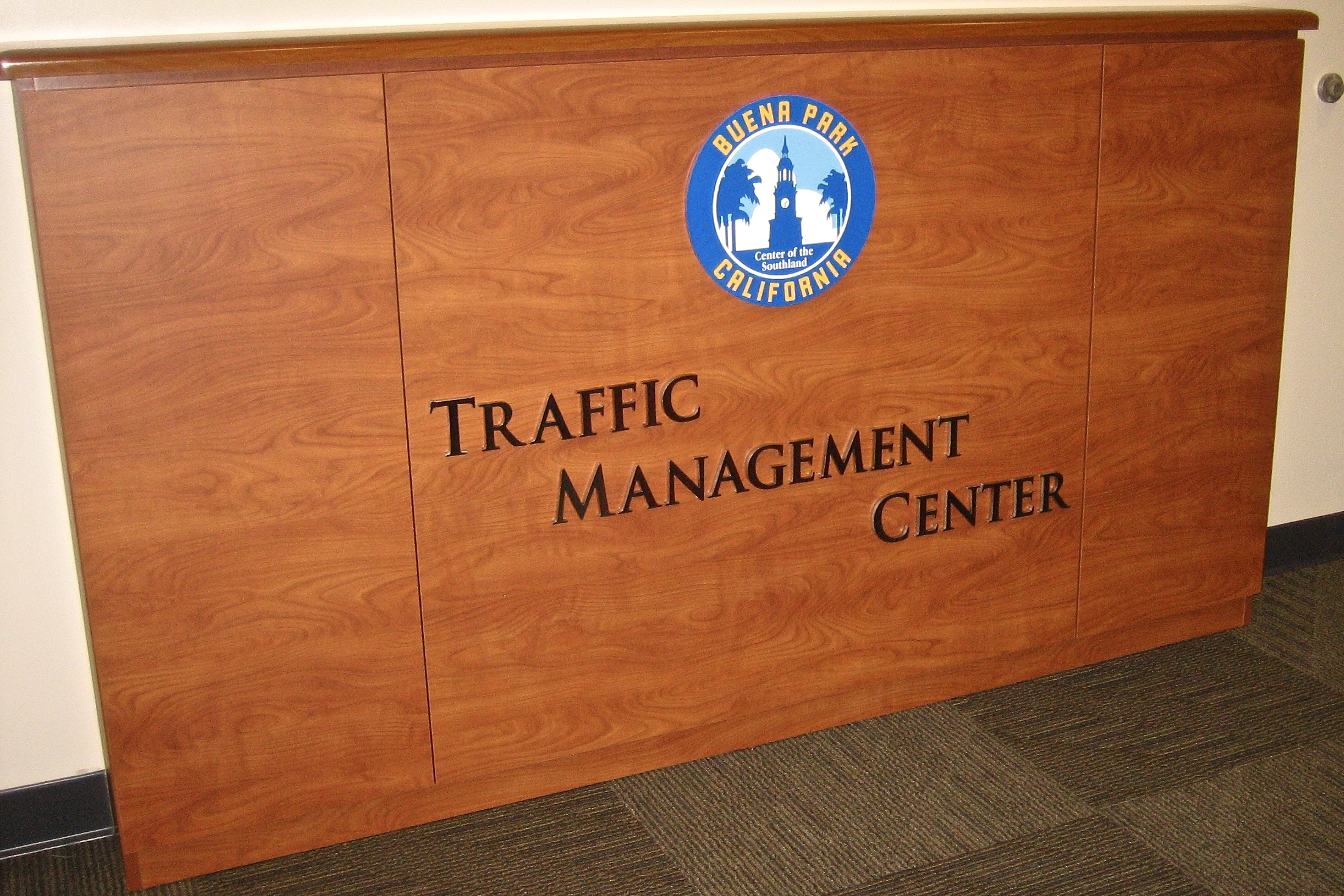 City of Buena Park Traffic Management Center display logo