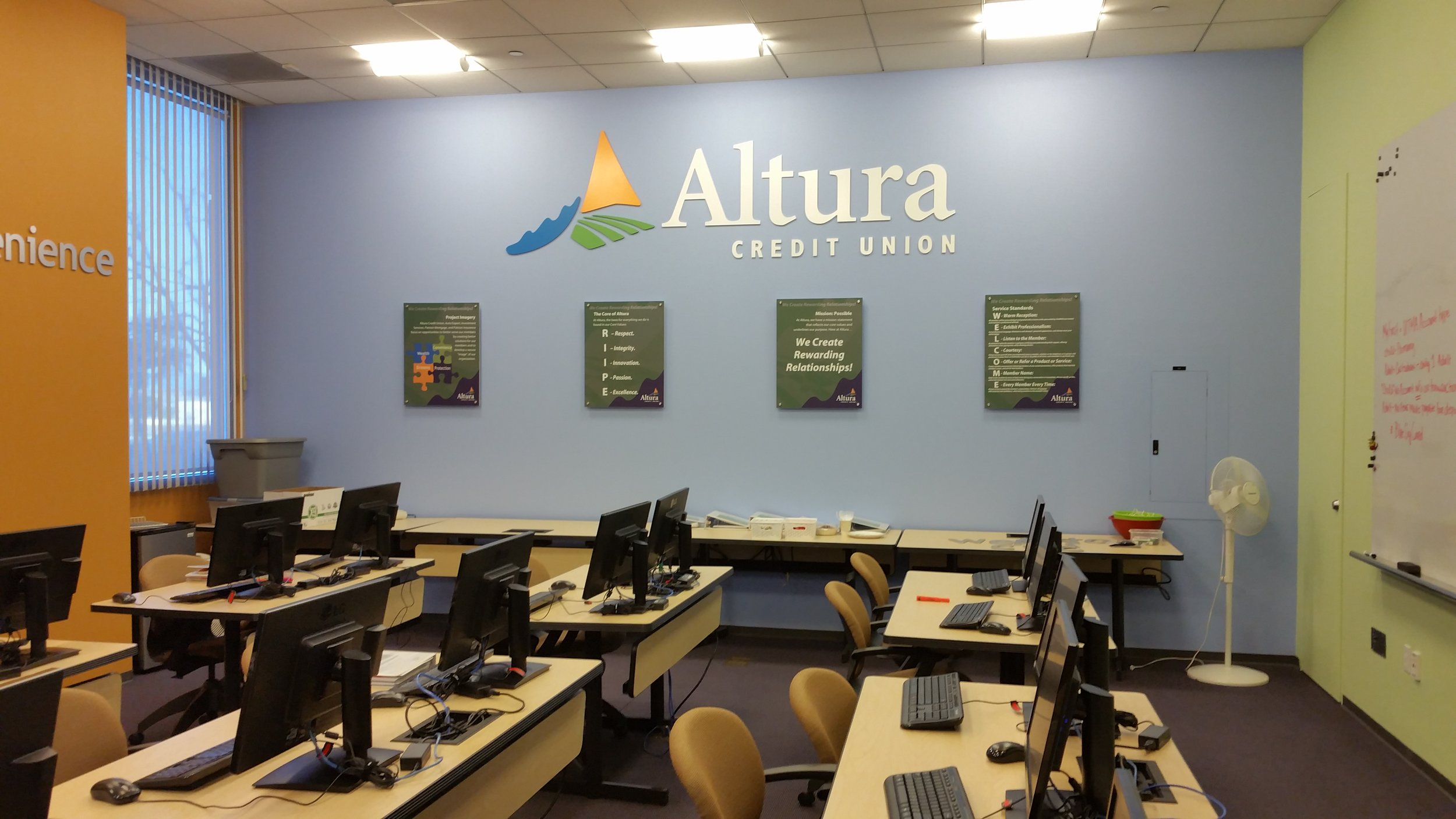Altura Credit Union training center dimensional logo