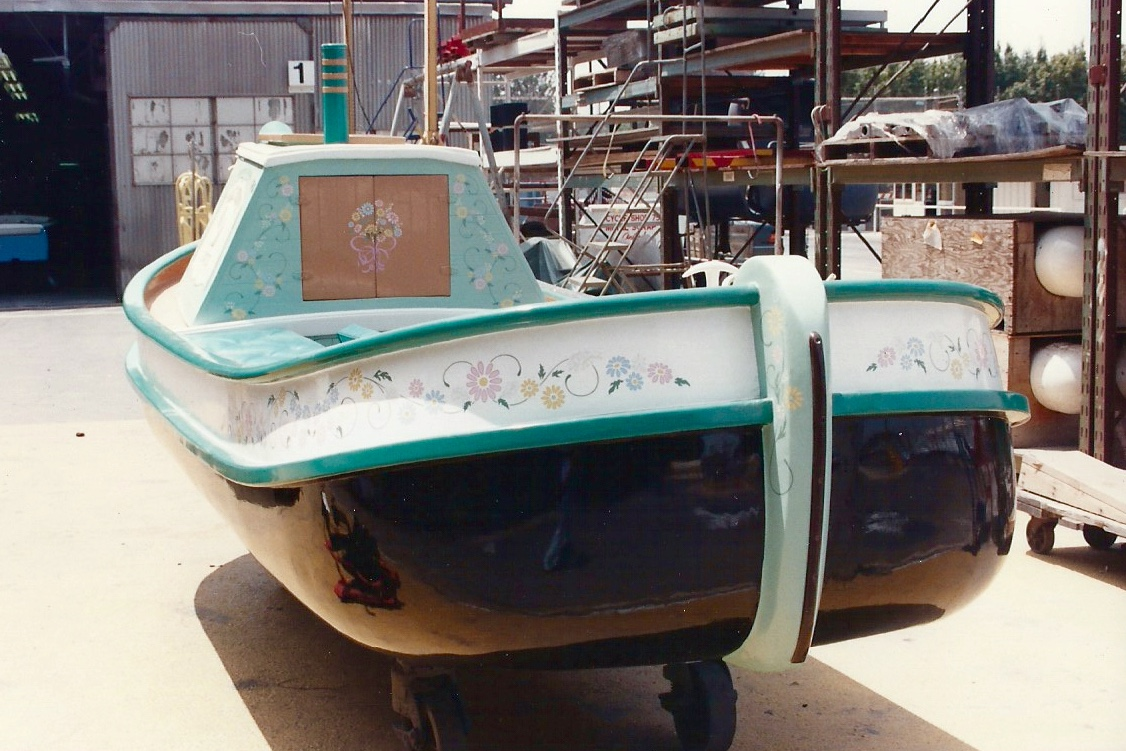 Hand painted Daisy Storybook Land boat graphics front