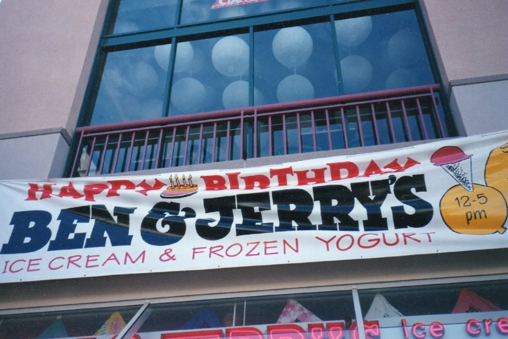 Ben and Jerry's promotional banner