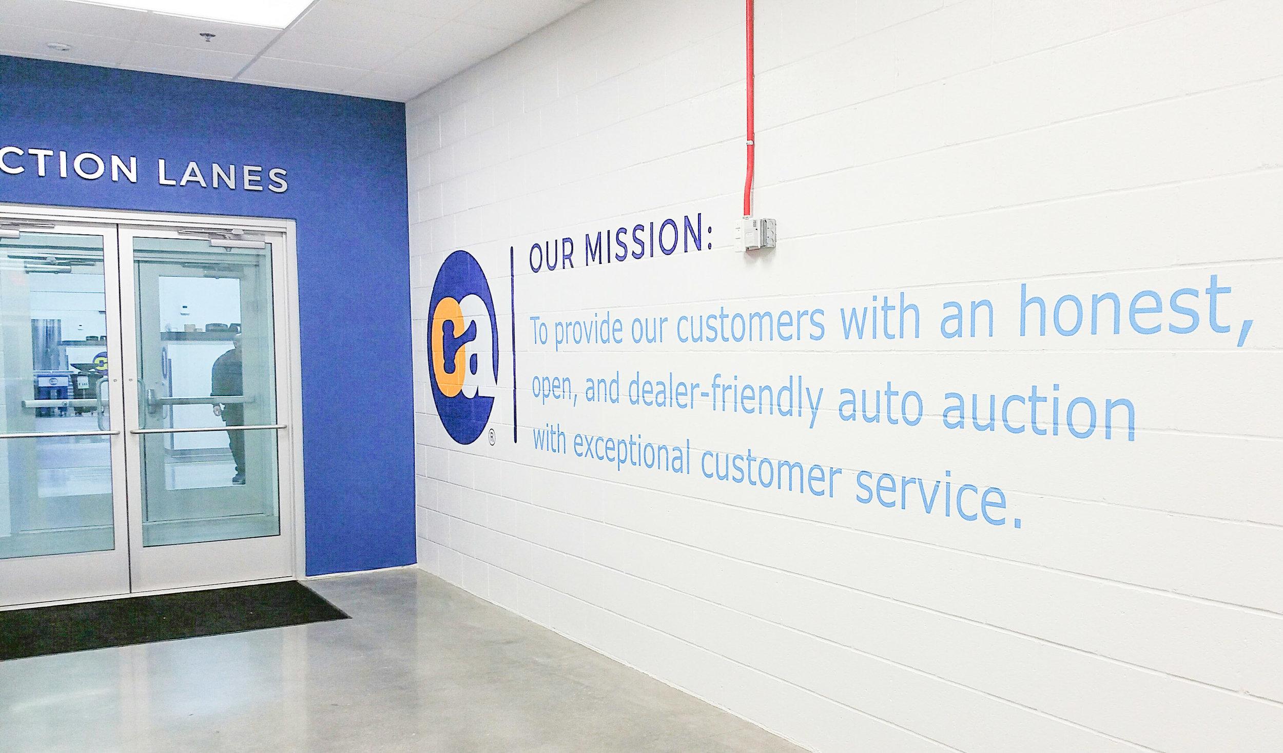 Custom printed and cut vinyl wall graphics