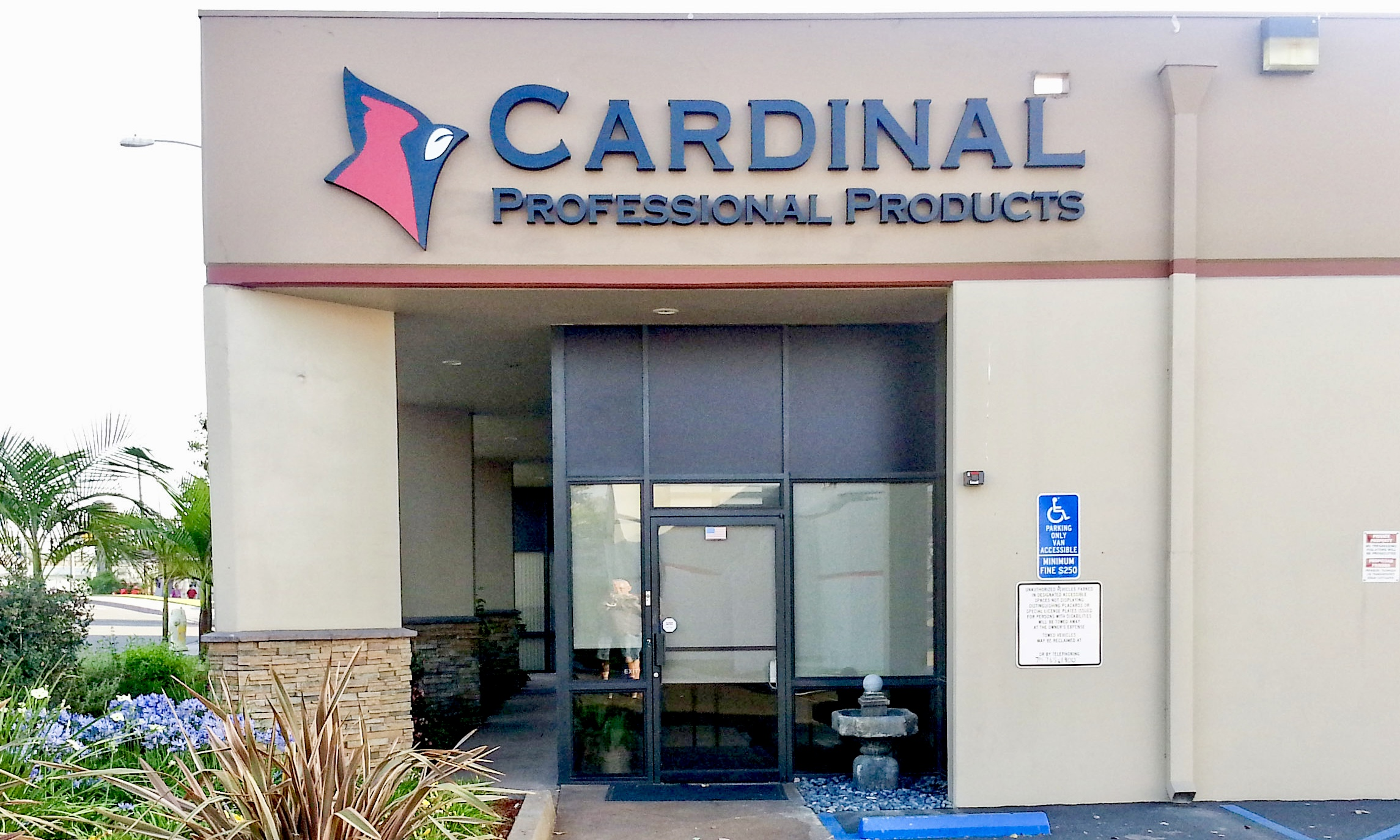 Cardinal Professional Products dimensional letters and logo sign