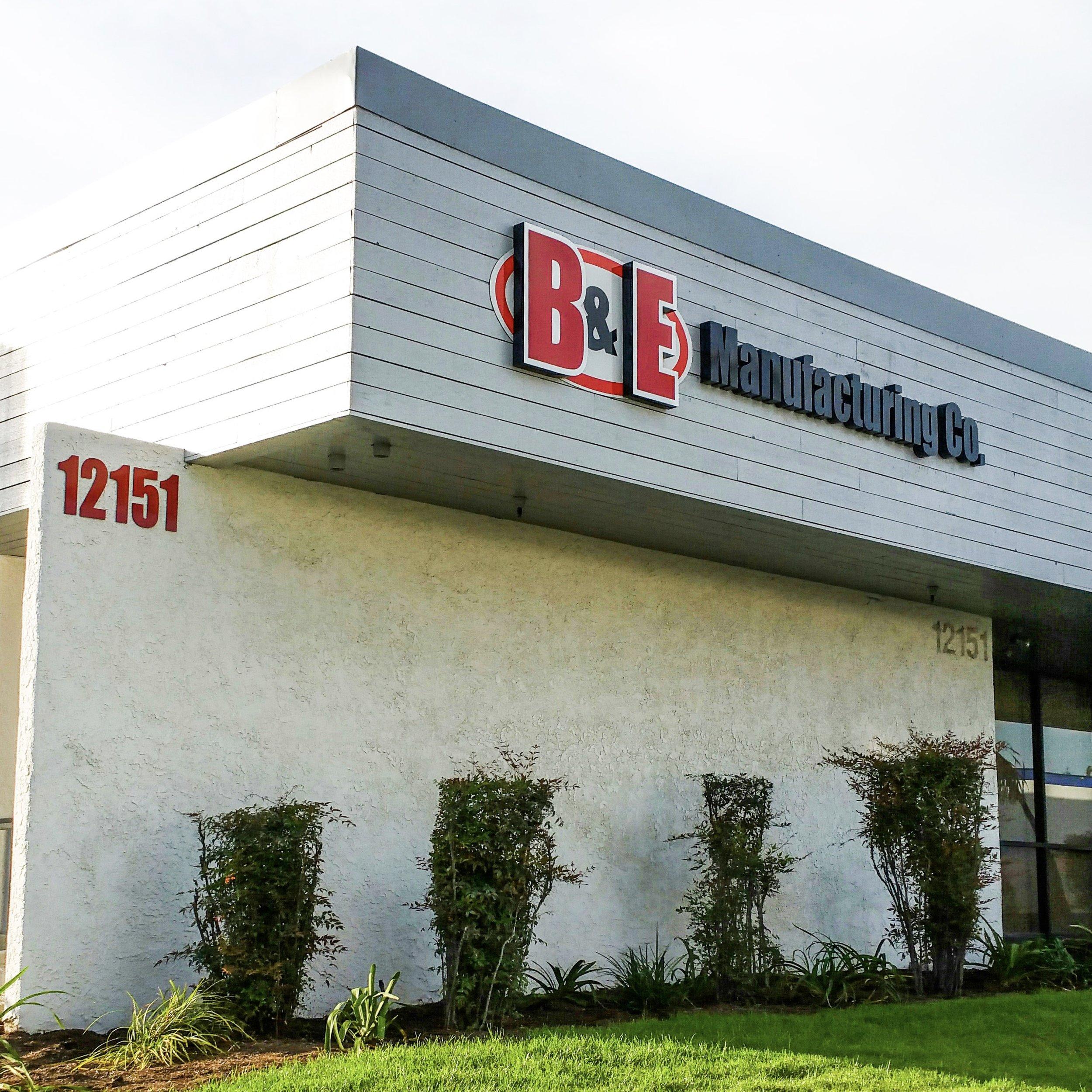 B & E Manufacturing dimensional letters & logo