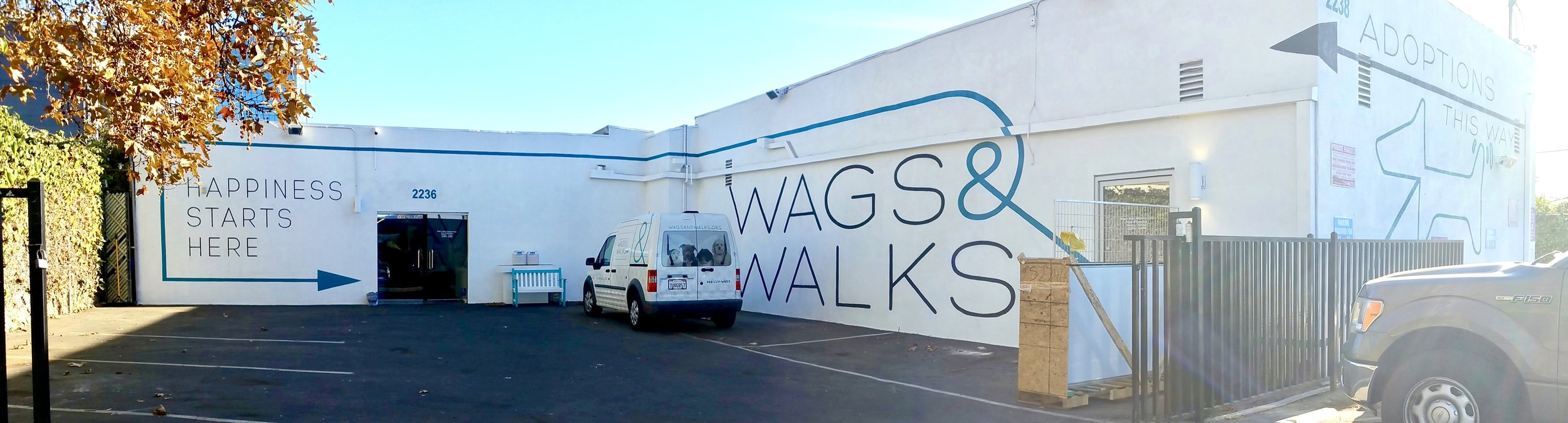 WAGS AND WALKS PAINTED GRAPHICS