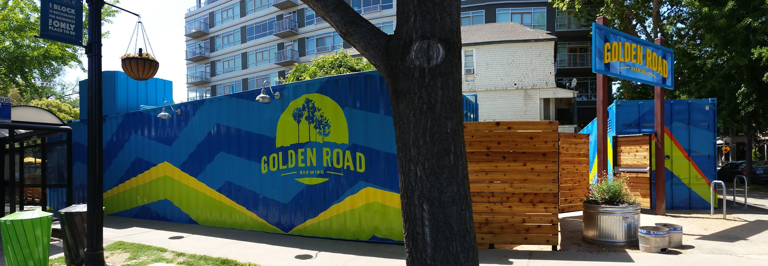GOLDEN ROAD BREWING SACRAMENTO HAND PAINTED GRAPHICS
