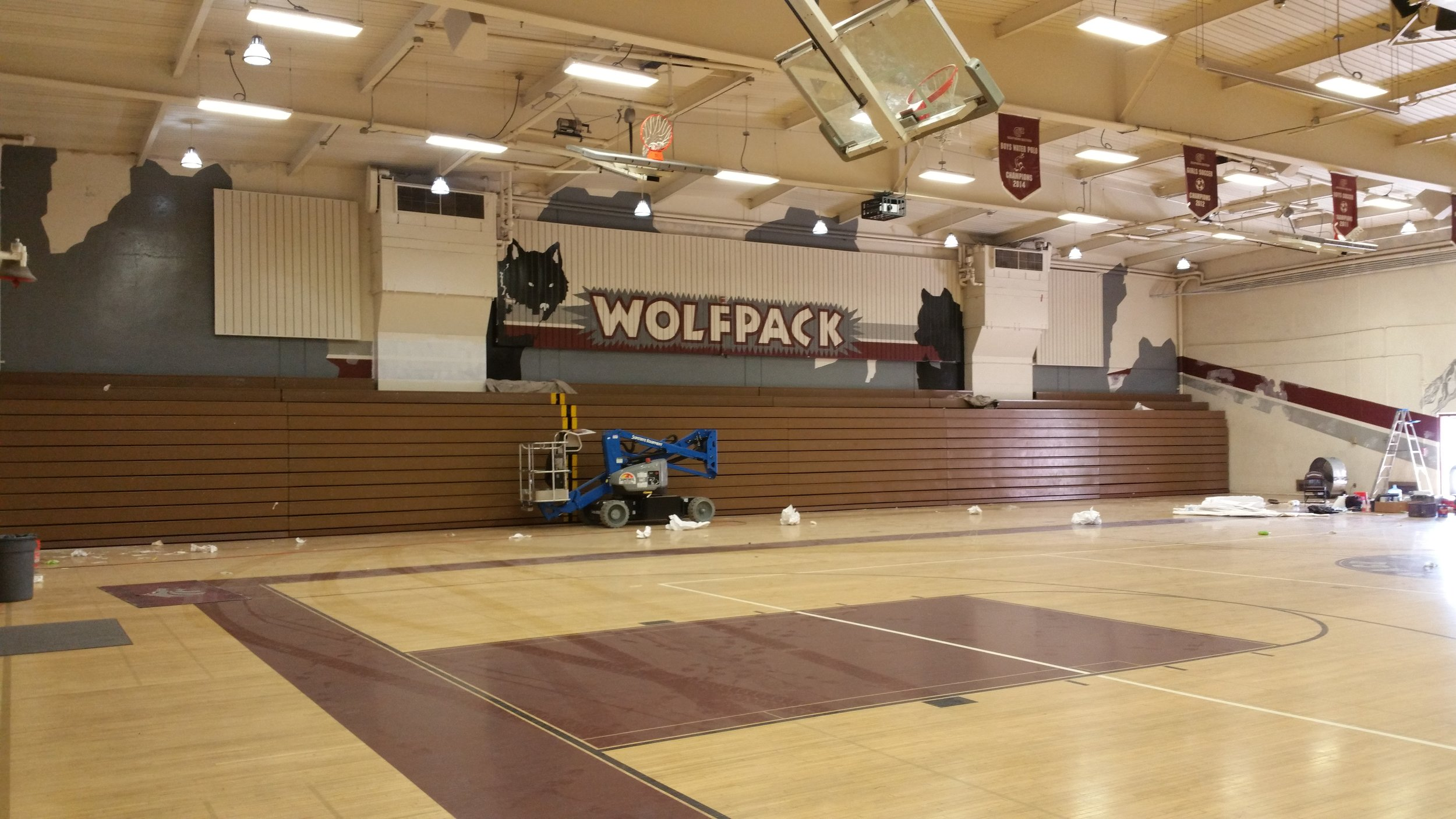 CLAREMONT HS - BEGINNING PAINTOUT
