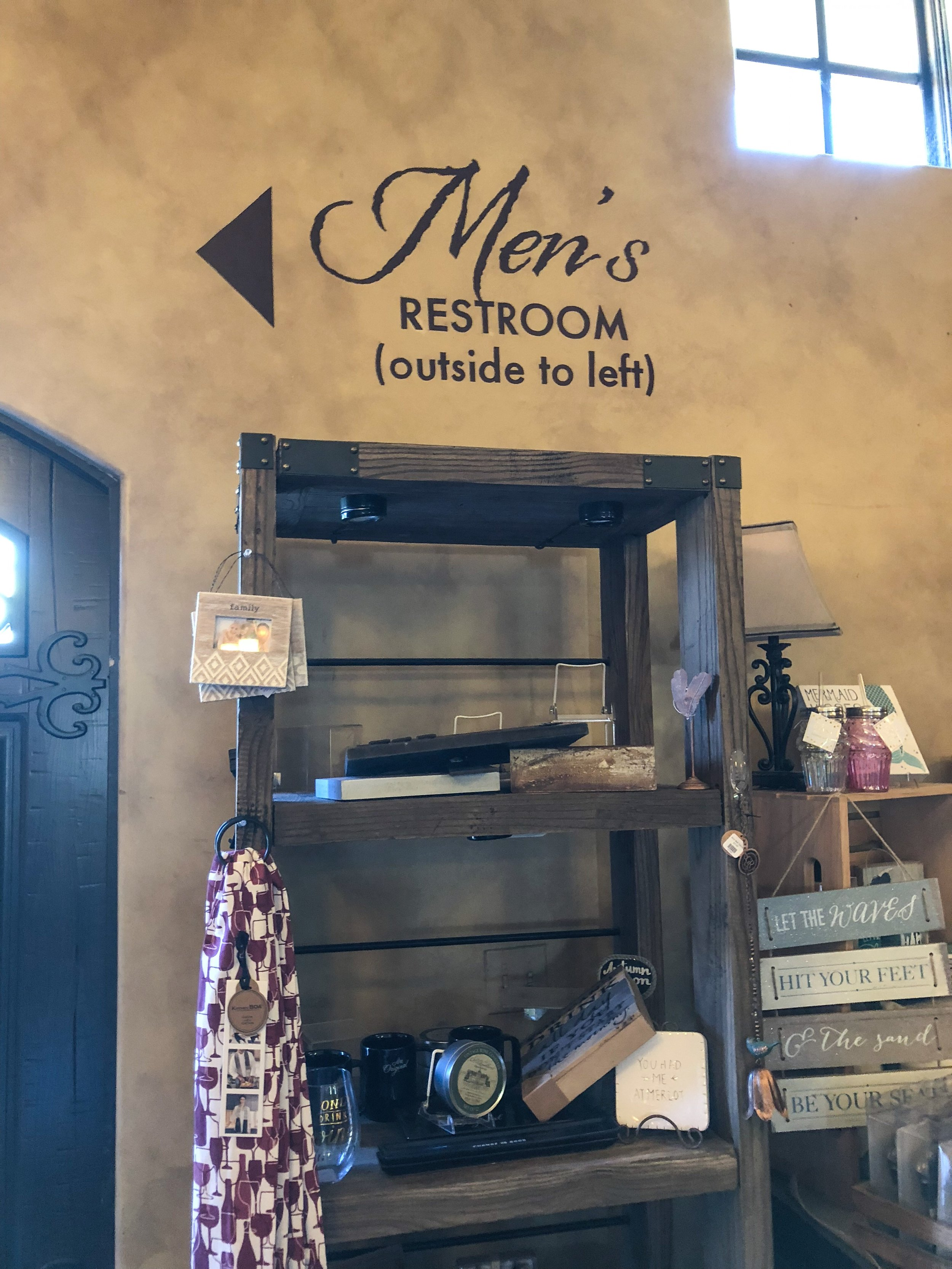 Danza del Sol Winery hand painted directional signs