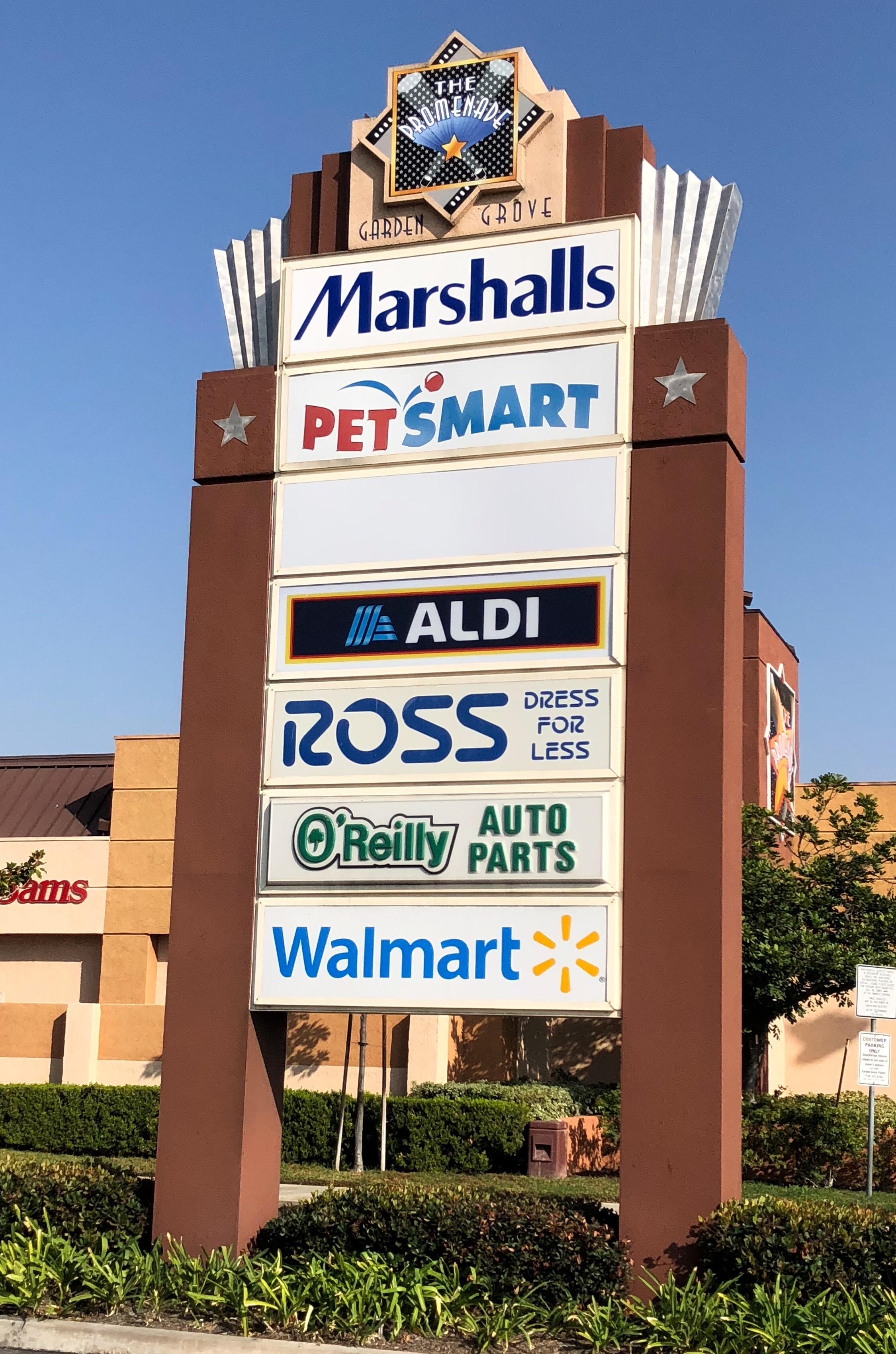 shopping center custom sign