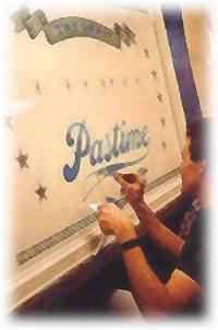 Paul Borne, Disneyland sign painter, 1990