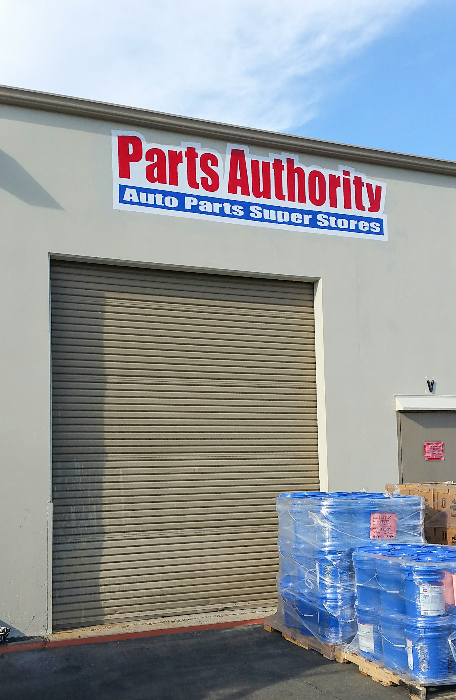 PARTS AUTHORITY HAND PAINTED SIGN SAN DIEGO