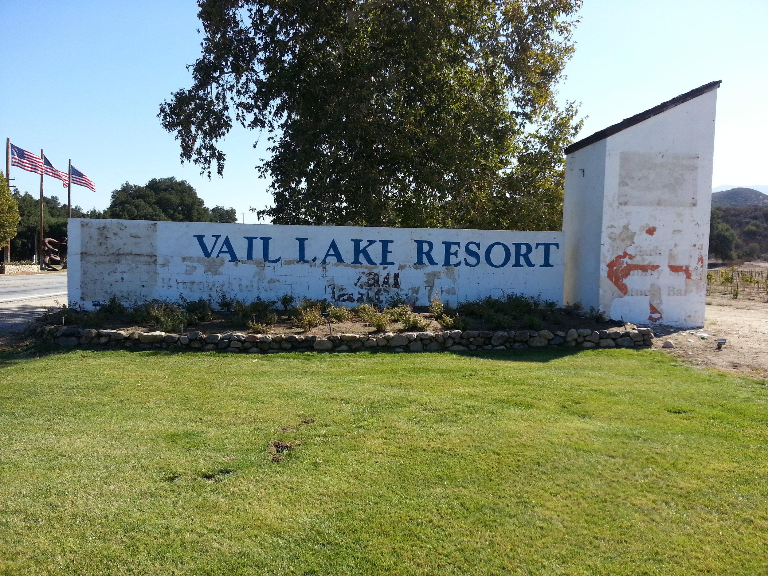 Vail Lake monument before photo Temecula CA