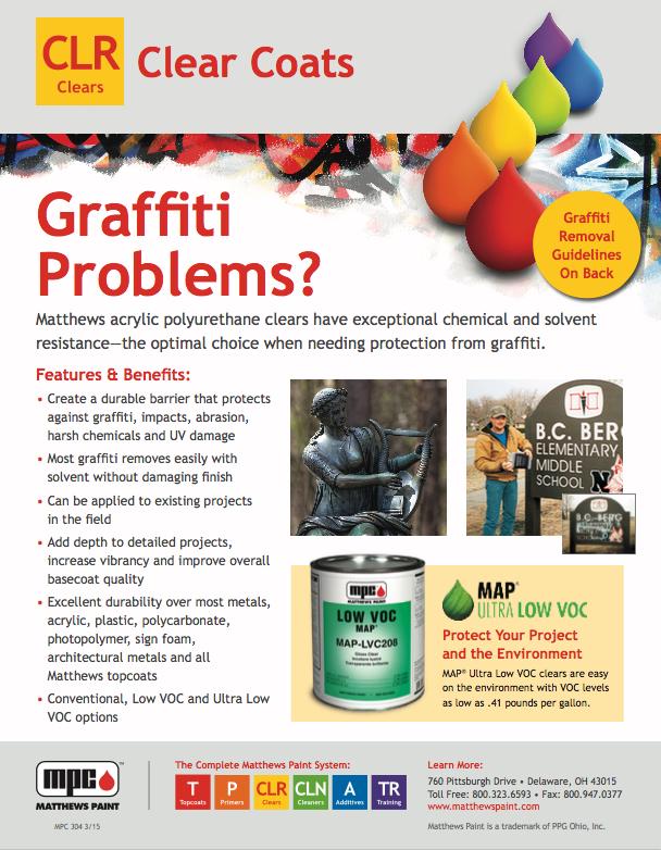 Matthews graffiti resistant clear coat page 1