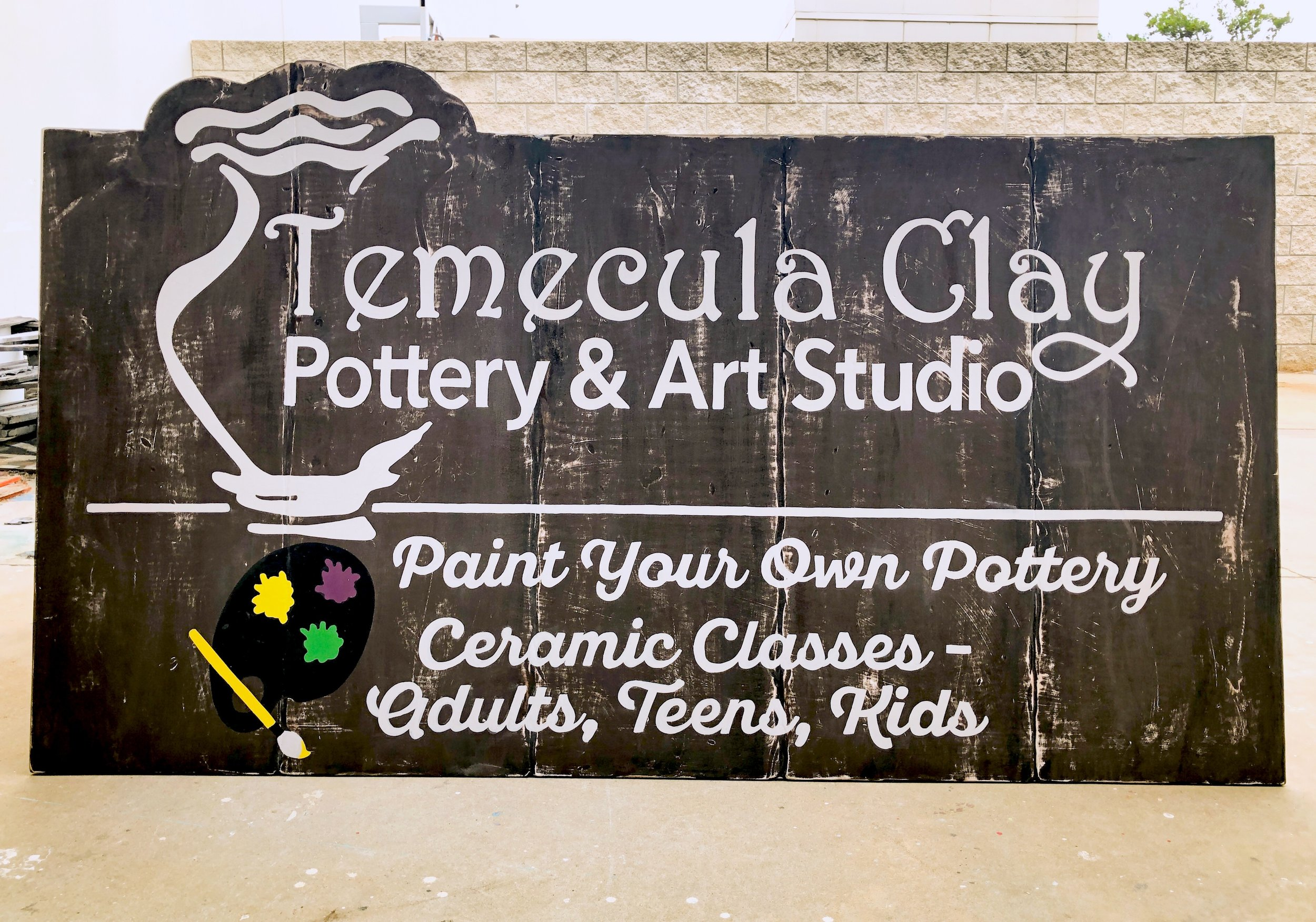 DISTRESSED BACKGROUND HAND PAINTED STOREFRONT SIGN