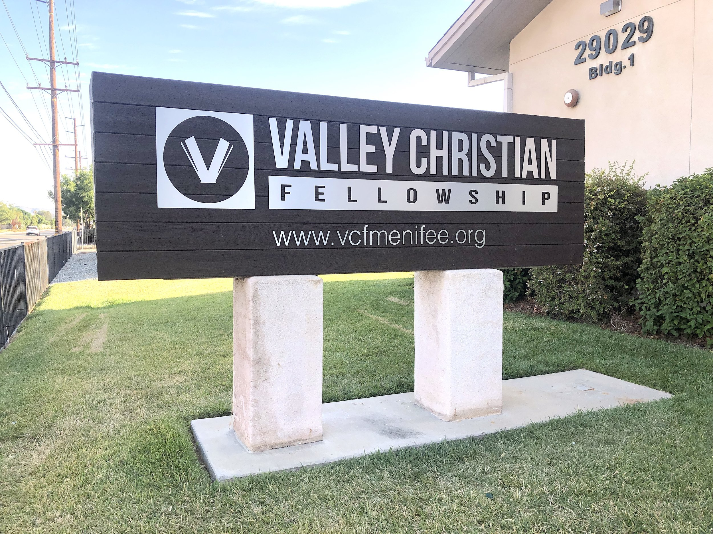 Valley Christian Fellowship Menifee CA sign north side