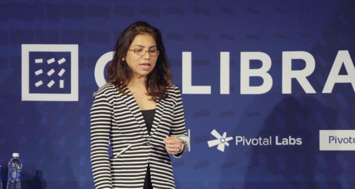 Tasneem at the Calibrate Conference in 2016.