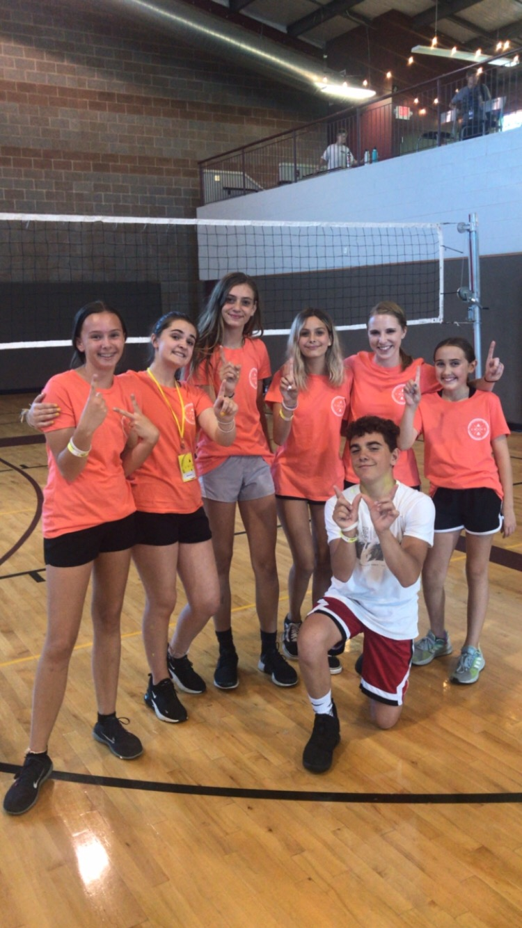 Our students and Becca love playing volleyball at camp every year! Back to back NPC tournament champs!