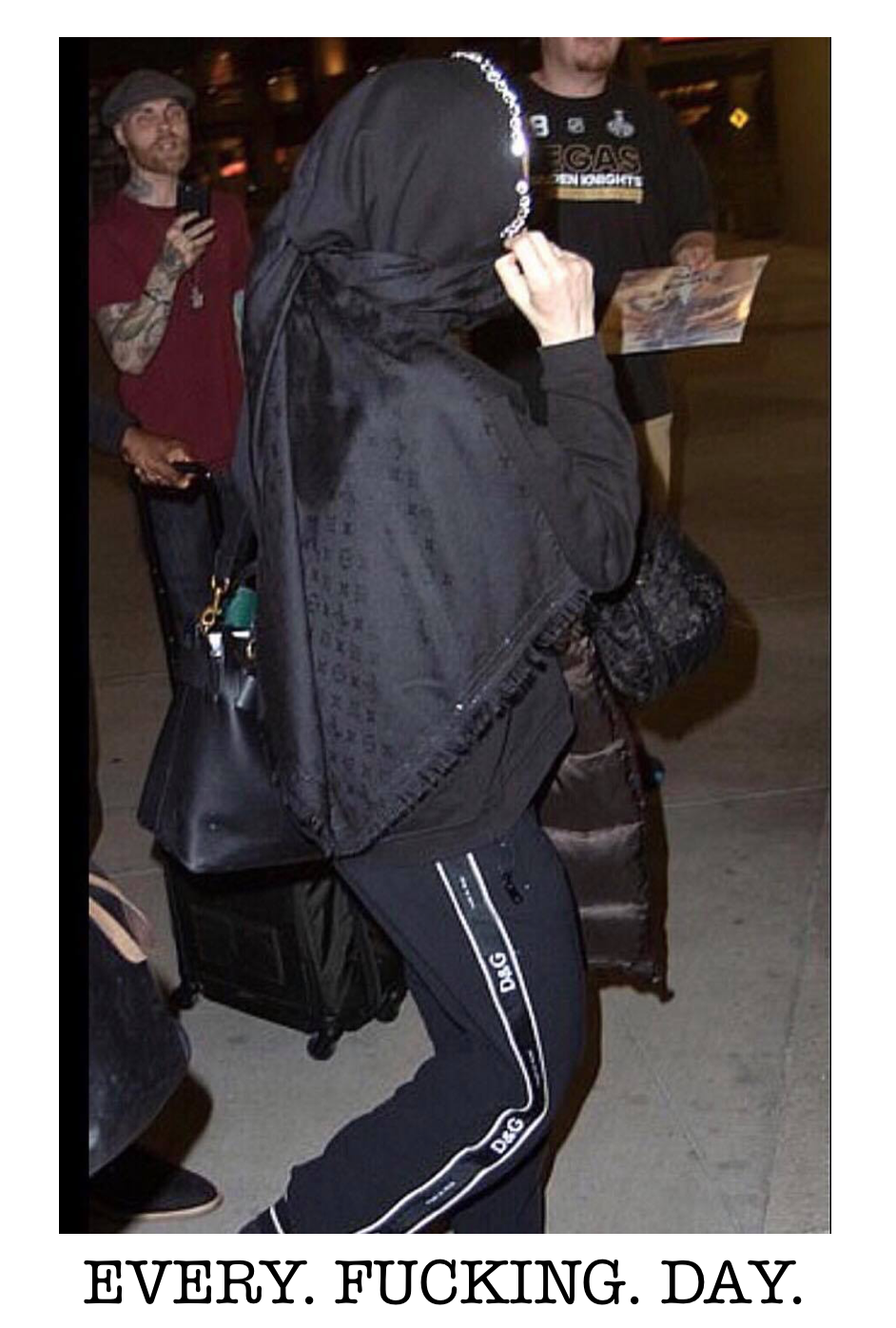 Madonna at the Las Vegas airport last week.
