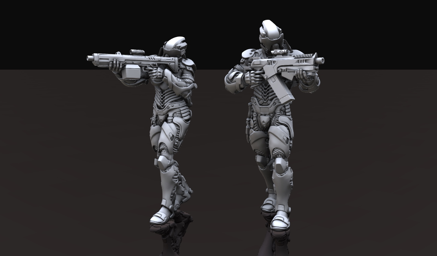 Male and Female GECS IRE Troopers